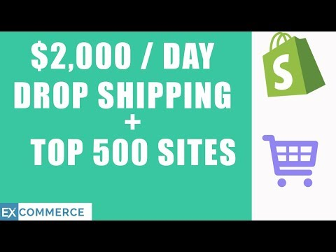 HOW I MADE $2,000/DAY DROP SHIPPING ON SHOPIFY BY LOOKING AT THE TOP 500 MOST POPULAR SHOPIFY SITES thumbnail