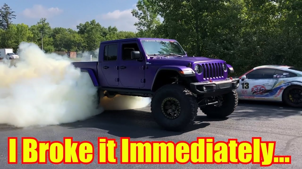 BROKE my new Hellcat Jeep Gladiator in 9 Minutes - YouTube