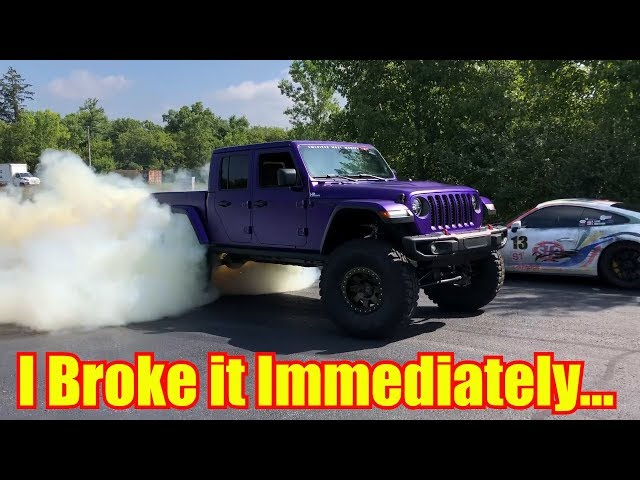BROKE my new Hellcat Jeep Gladiator in 9 Minutes