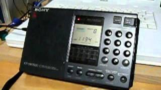 文化放送 1134kHz 2011年1月1日:16:30・受信地:山陰 Sony:ICF-SW7600...