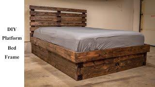 DIY Platform Bed Frame For $120! | Build It Better | EP. 06