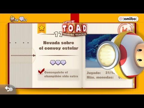 Captain Toad: Treasure Tracker - Nevada sobre el convoy estelar ( 100 % ).