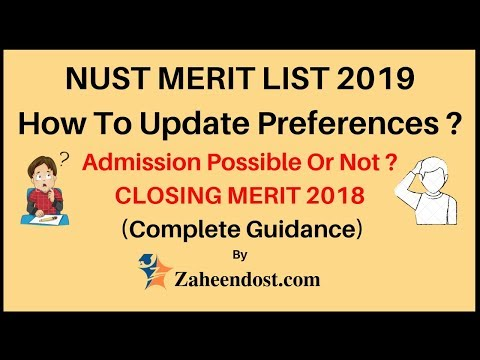 NUST Merit List 2019 | Comparison with 2018 Merit List | How