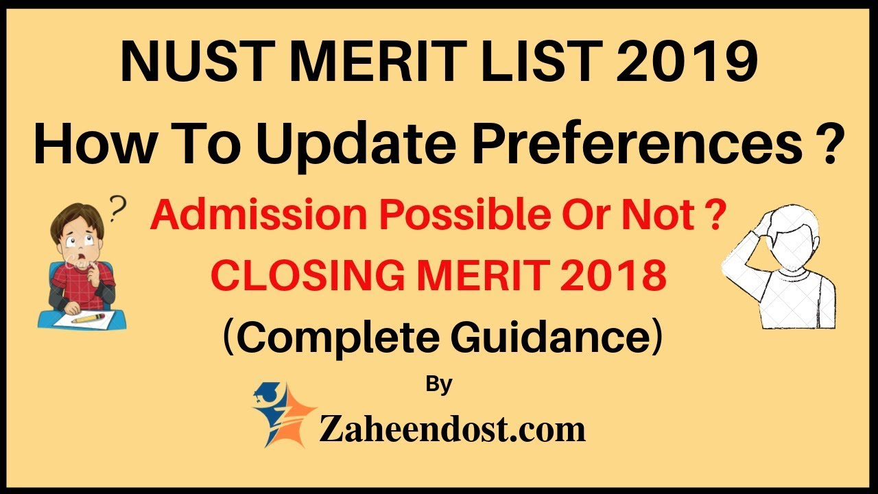NUST Merit List 2019 | Comparison with 2018 Merit List | How To Update  Preferences?