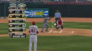 MLB 2K9 PC Gameplay LAD Dodgers @ LAA Angels 1st Top