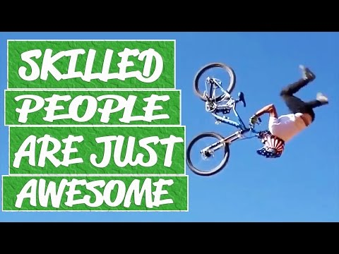 People are amazing compilation - Bike skills, parachute jumps, pool tricks, mountain bike tricks