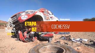 Dakar 2020 - Etapa 2 (Al Wajh / Neom) - Resumen Coche/SSV