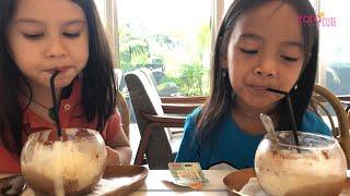 Cara membuat Es Susu Milo yang Enak ala Native Cafe 😋 Zara Cute playdate with Cascade