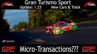 GT Sport - 1.23 Update has Micro-Transactions? (New Cars & Track)
