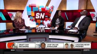 Marcellus Wiley Ask Michelle Beadle About Her Vaginal Odor on ESPN SportsNation 4/27/17