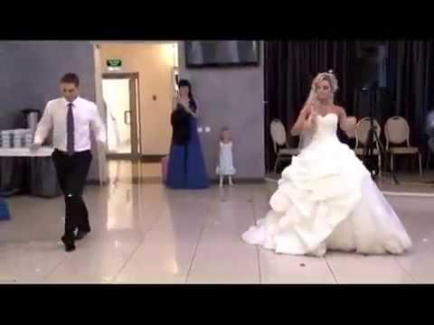 Видео прикольные свадебные танцы