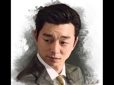 [디지털페인팅] 배우 공유 그리기 Korean actor Gongyoo painting