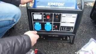 Смотреть видео Бензогенератор кратон