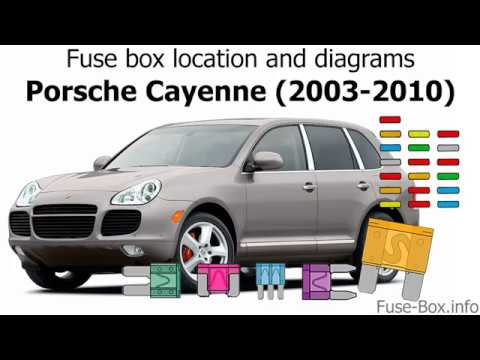 fuse box location and diagrams: porsche cayenne (2003-2010) - youtube  youtube
