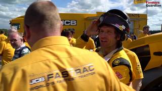 JCB Fastrac sets 103.6mph British record with Guy Martin at the wheel