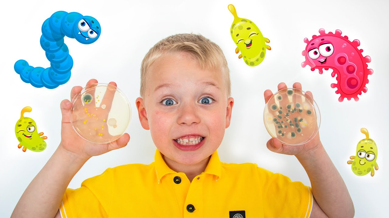 Growing real Bacteria   Science Experiment   Educational video for children   Gaby and Alex Show