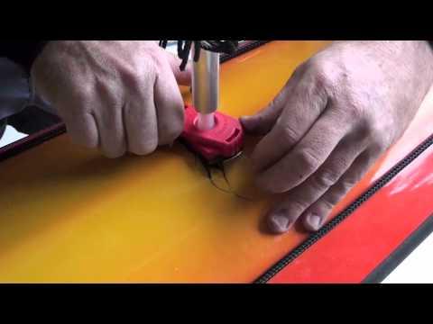 How to fit a Flat Earth Sail, Sea kayak, Mirage 580 thumbnail