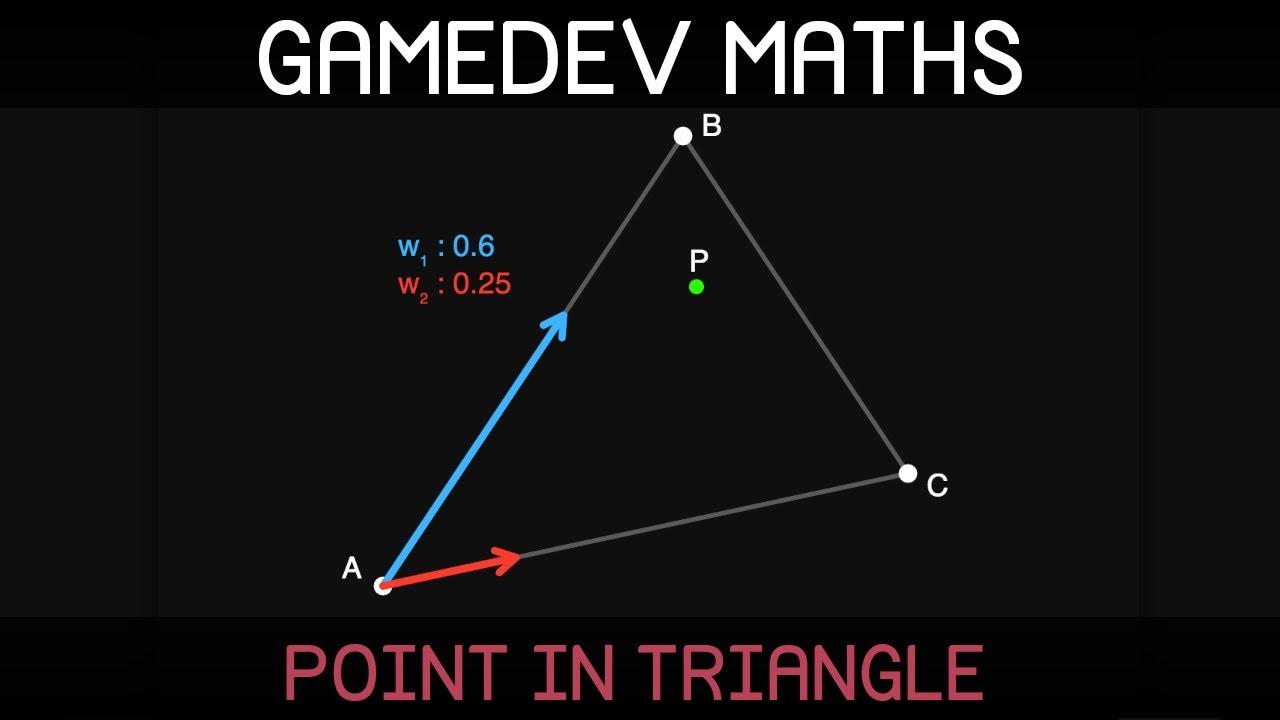 Gamedev Maths: point in triangle