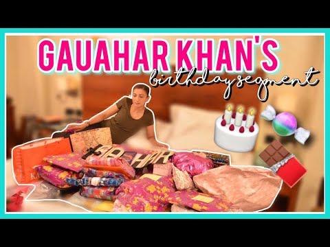 GAUAHAR KHAN'S Birthday Segment 2017 | Quirkypurvi