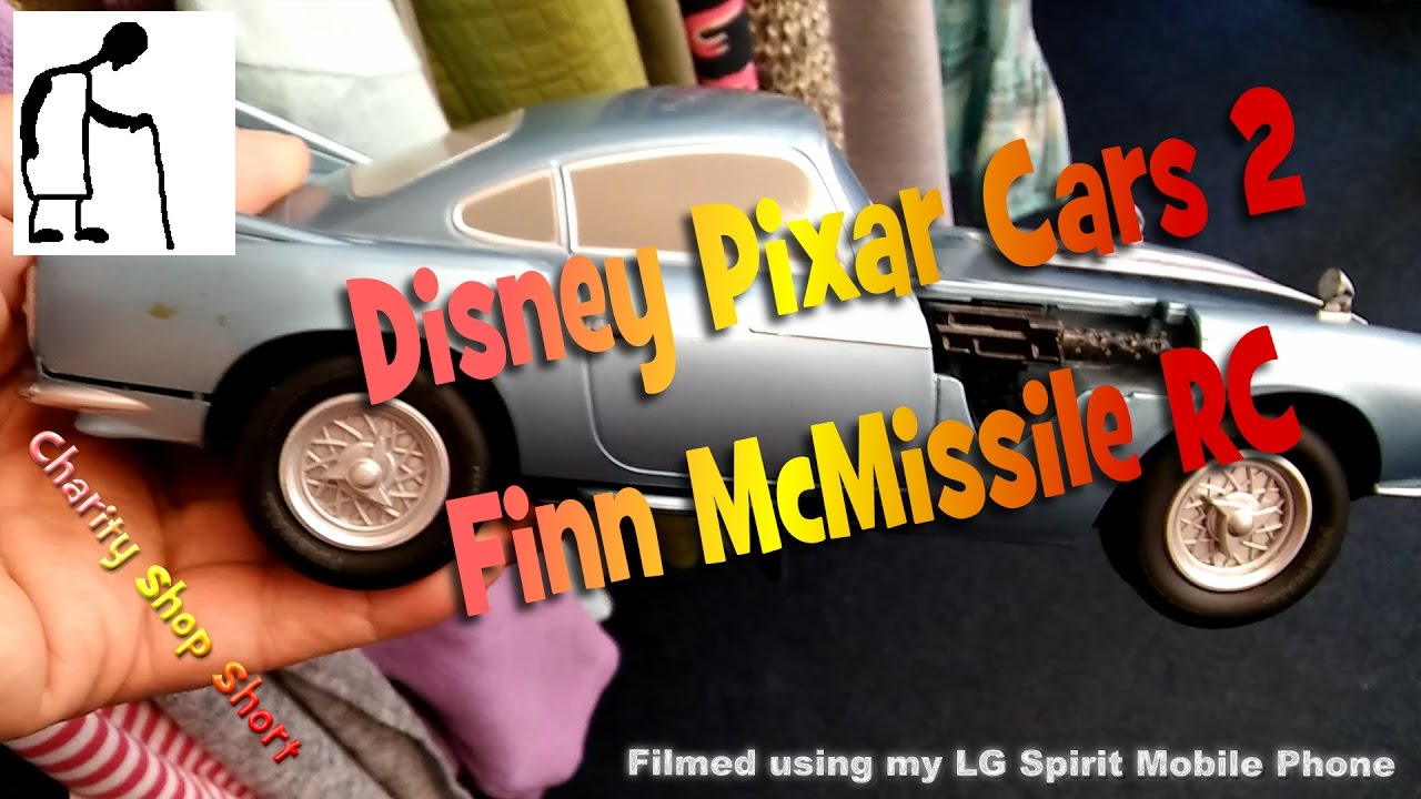 charity shop short  disney pixar cars 2 finn mcmissile rc