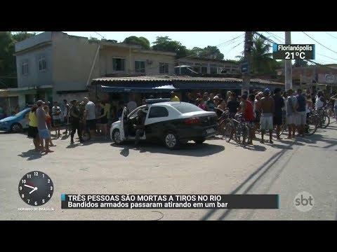 Bandidos atiram contra clientes de bar em Duque de Caxias | SBT Brasil (12/10/17)