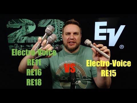 Electro Voice RE15 vs RE11 RE16 RE18 SM57 (Vocal/Acoustic Guitar) Mic Review Shootout Comparison