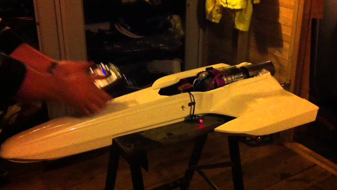 Rc Turbine Boat Jetcat P80 Gas Start First Dry Run Youtube