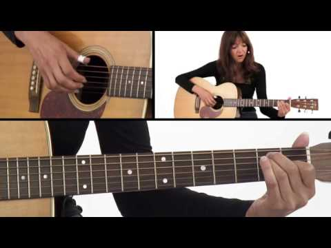 How To Play Fingerstyle A, D, & E Chords - Beginner Guitar Lesson - Susan Mazer