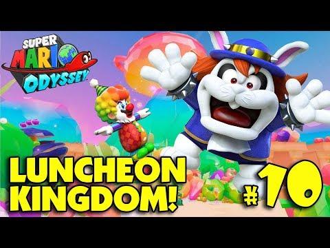 CREEPY CLOWN MARIO in the LUNCHEON KINGDOM!!! Super Mario Odyssey PART 10