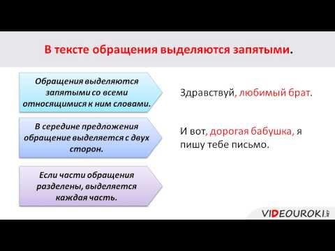 Как обозначается обращение в русском языке