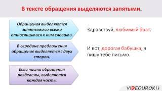 Видеоурок по русскому языку