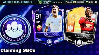 CLAIMING SBC ÜNDER,POGBA /Confusion Mistakes To Avoid in Weekly SBCs-Fifa mobile Gameplay Review