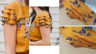Beautiful layerd sleeve design making very easy