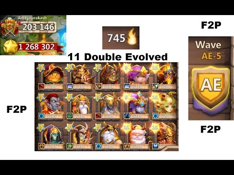 One Of The BEST Free 2 Play Accounts On Castle Clash 200k+ Might