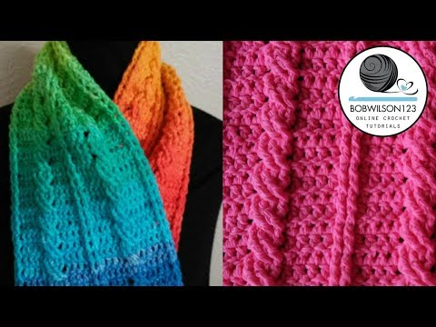 Cable scarf or chunky blanket tutorial