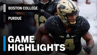 Highlights: Boston College Eagles vs. Purdue Boilermakers | Big Ten Football