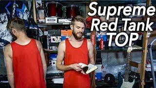 SUPREME Mesh Stripe Tank Top RED Spring/Summer 2018 Week 20   Christian Hypebeast Reviews