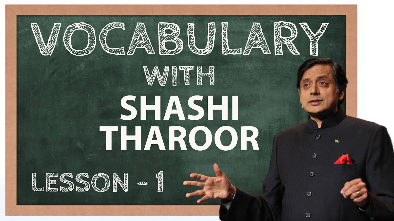 Vocabulary with Shashi Tharoor - Learn English Words - Lesson 1