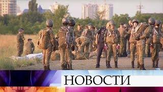 Первые девушки, зачисленные в Краснодарское летное училище, выполнили прыжки с парашютом.