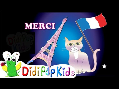 How to Say Hello, Thank You and Yes in French | DidiPopABC Kids Song