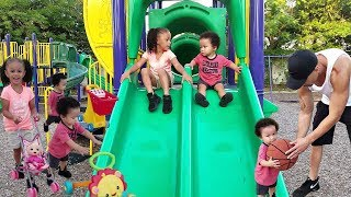 Outdoor Playground for kids Family fun Play time with Imani and The Twins