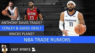 NBA Trades: Anthony Davis Rumors, Celtics & Lakers, Mike Conley & Marc Gasol And Knicks Plans