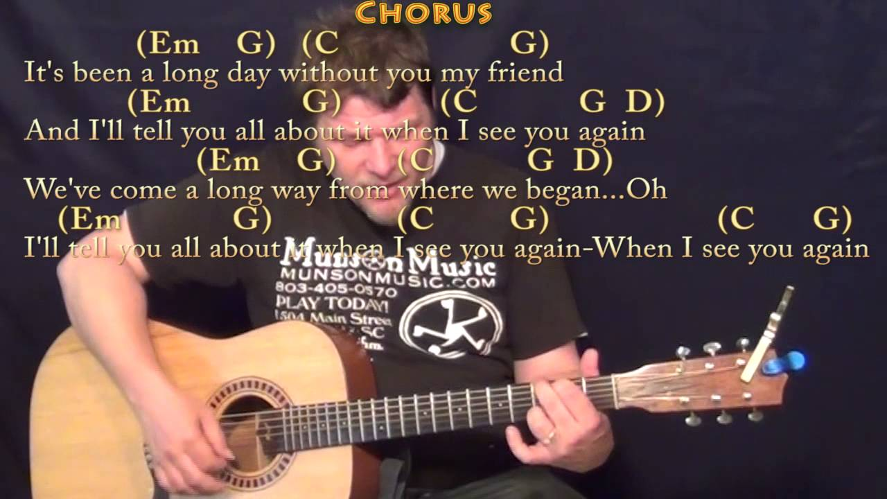 See You Again Wiz Kahlifa Strum Guitar Cover Lesson in Em with  Chords/Lyrics