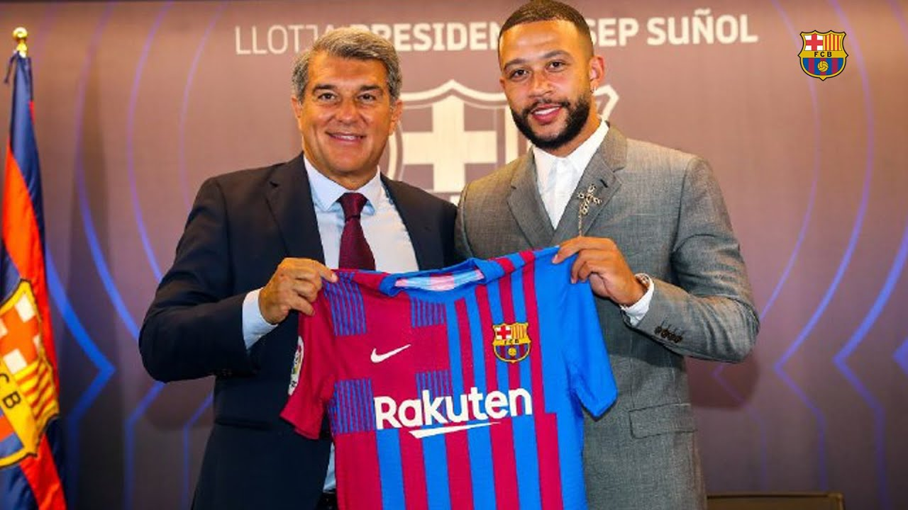 MEMPHIS DEPAY's OFFICIAL PRESENTATION AS A BARÇA PLAYER from CAMP NOU (FULL STREAM)