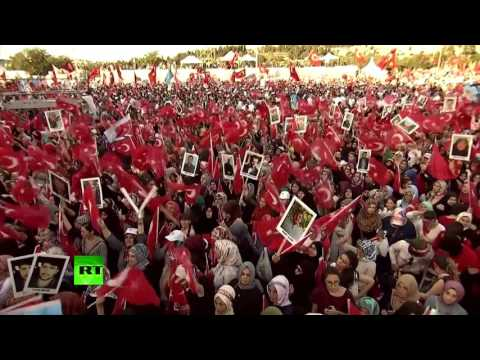 1 year after coup: Thousands commemorate 'epic victory' in Turkey