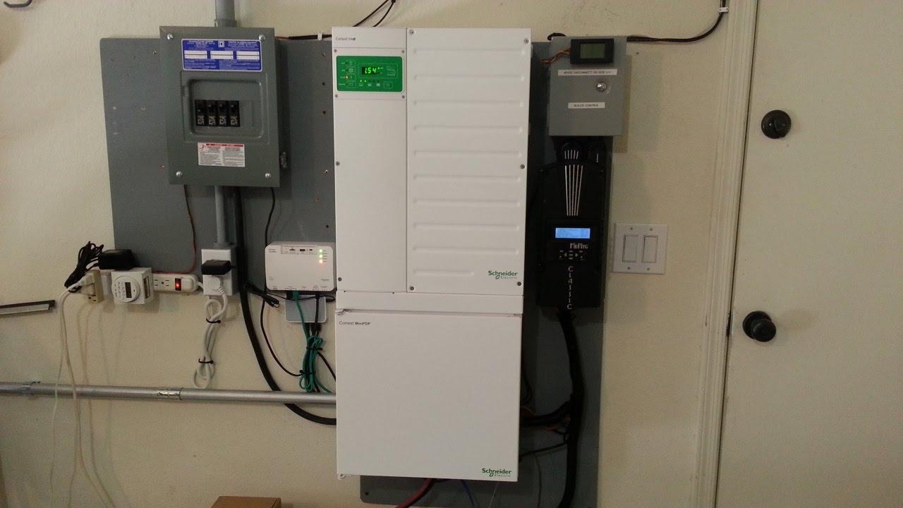 2 5kw Solar Array Hybrid System W Conext Xw 6848 And