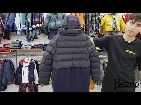 Пальто для девочки (пуховое, зимнее). Итальянский бренд Herno выпускает одежду в премиум-сегменте.