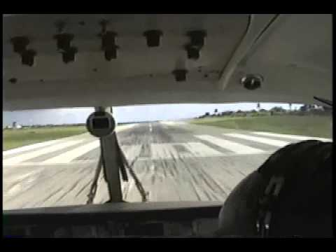 Vintage footage King Air Takeoff Anguilla Wallblake Airport TQPF Runway 10