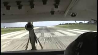 Vintage 90s footage King Air Takeoff Anguilla Wallblake Airport TQPF Runway 10