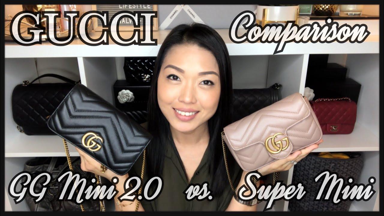 9d0396cb6caf GUCCI MINI 2.0 MARMONT vs. SUPER MINI MARMONT   Comparison + Mod ...